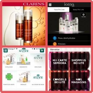 application sephora ioma nuxe clarins