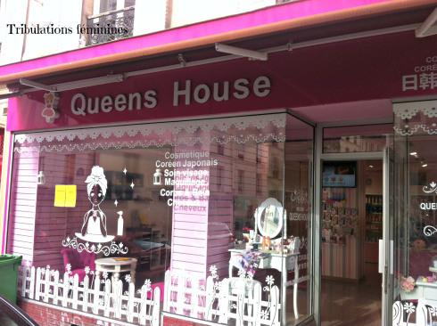 La boutique Queens House, rue de Belleville