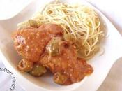 Poulet olives sauce tomate
