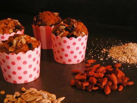 Muffins curcuma goji