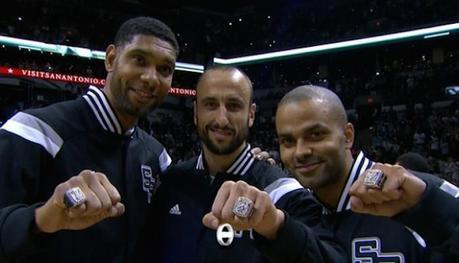 La remise des bagues aux champions NBA