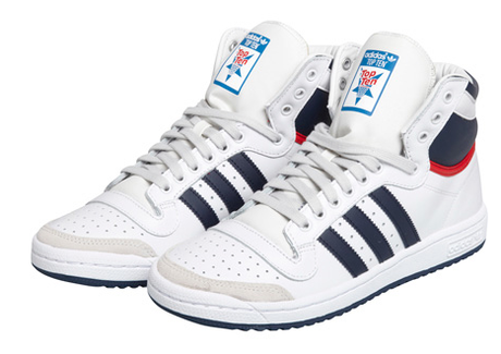 Adidas Baskets Top Ten Hi Leather White