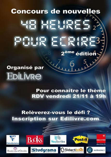 Affiche 48 heures pour écrire - 2ème édition - Edilivre
