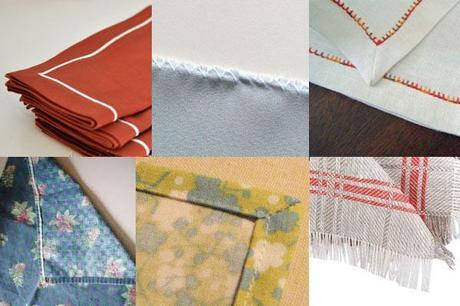 ourlets serviettes table 8 façons de finir des serviettes de table