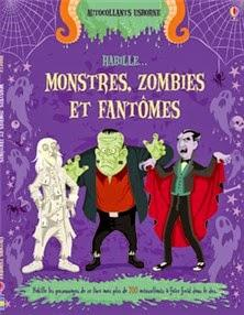 Halloween : on dessine, on colle, on colorie! #4 - Habille Monstres, zombies et fantômes - Autocollants Les monstres - Autocollants Les zombies
