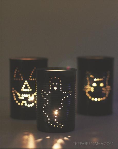 Spooky Tin Can Lantern