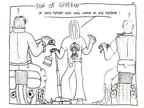 Sons of Giverny, un strip de Zéda pour larticle rencontre Cuadrado et Margerin