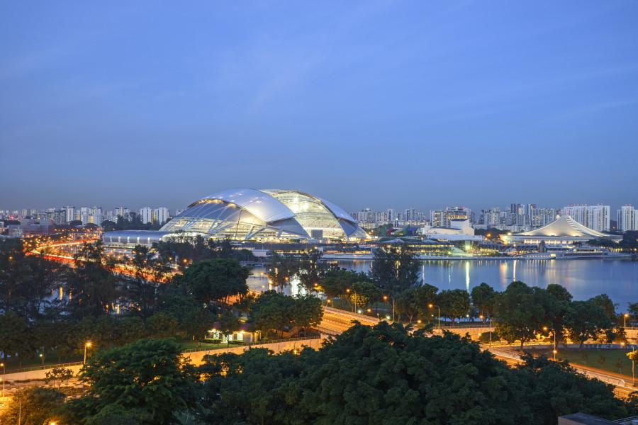 Sports Hub de Singapour : la construction en 2 minutes chrono