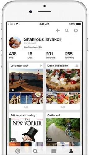 pinterest ios iphone nouvelle version 287x500 Pinterest peaufine l'interface de son application iPhone