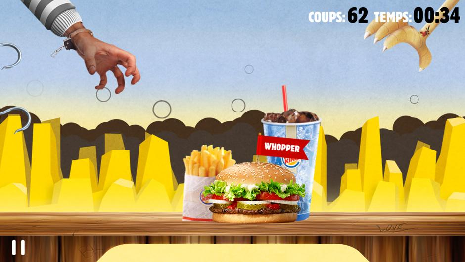 04 burger king 02 Un jeu smartphone pour ne plus faire la queue chez Burger King