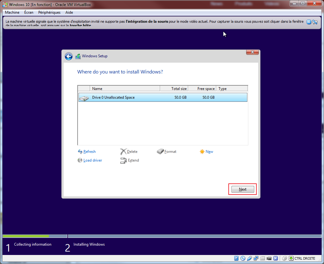 Tester la technical preview de Windows 10 en VM   install 04
