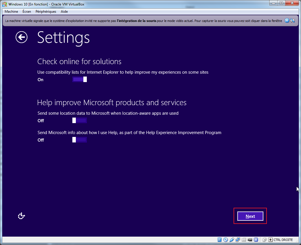 Tester la technical preview de Windows 10 en VM   install 09