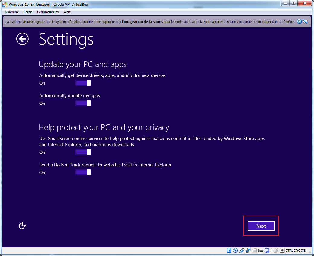 Tester la technical preview de Windows 10 en VM   install 08