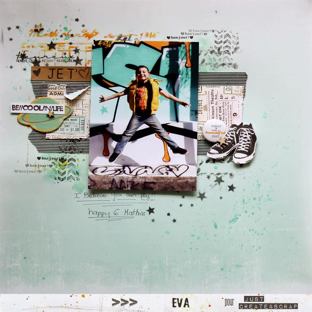 I Believe YOU Can Fly #DT Just Create & Scrap