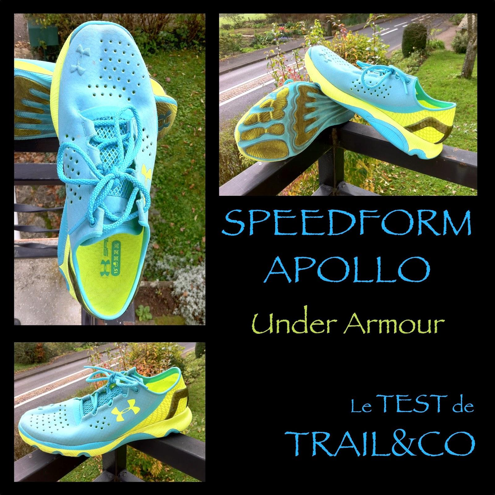 Test des SPEEDFORM APOLLO d'Under Armour