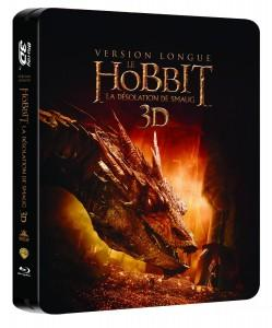 le-hobbit-la-désolation-de-smaug-version longue-steelbook-bluray3d-warner-bros