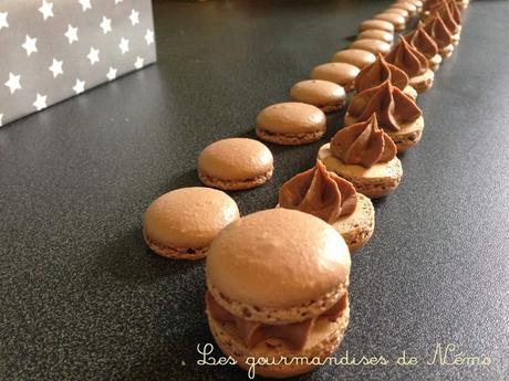 Macarons chocolat au lait