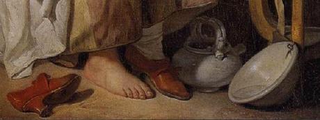 Greuze La paresseuse italienne pieds