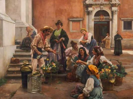 Venetian Water Seller par Henry Woods