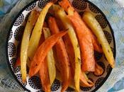 Frites patates douces rutabaga herbes