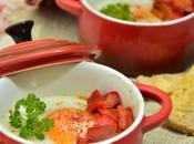 Œufs cocotte tomates poivron rouge {Foodista Challenge