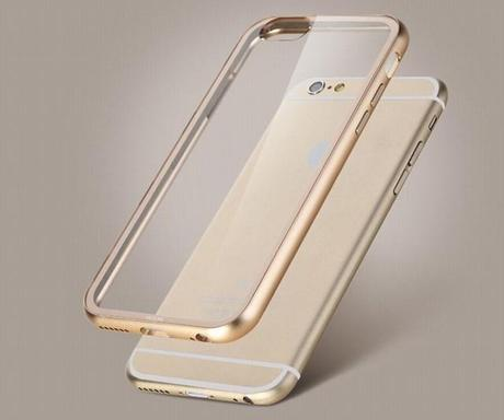 Superbe Bumper aluminium Rock avec protection arrière pour iPhone 6