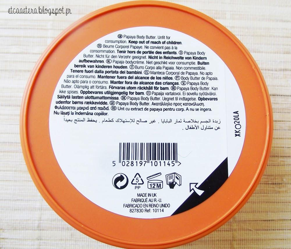 Le cas du Body Butter de The Body Shop