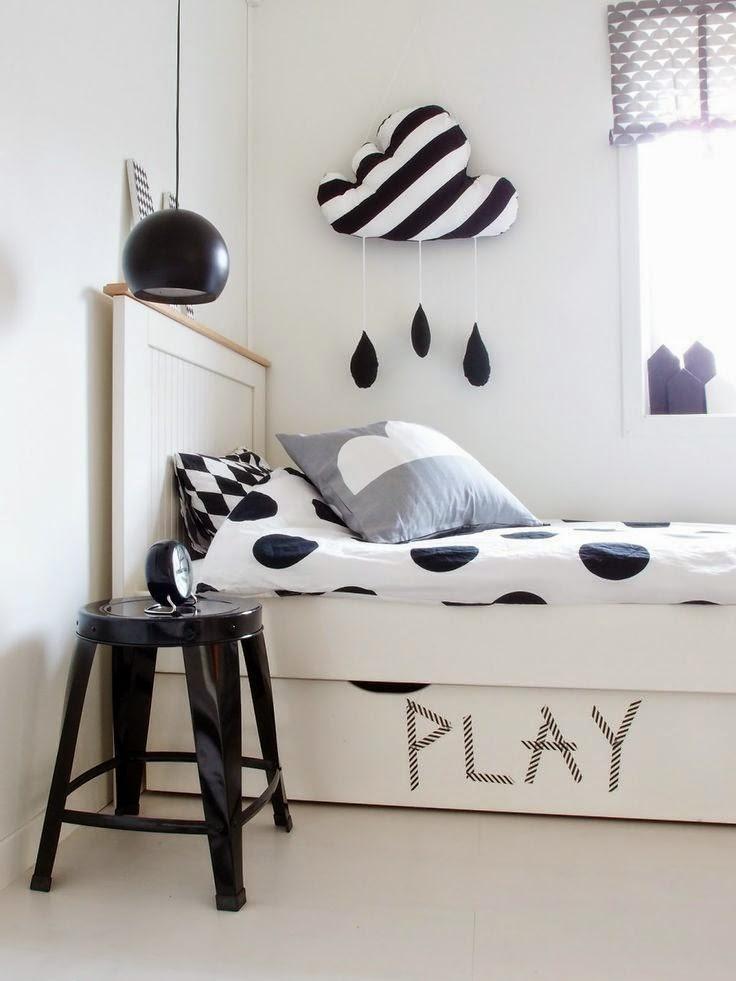 D co tendance le noir et blanc pour les chambres d 39 enfant - Deco chambre en noir et blanc ...