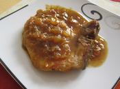Côte porc(ou veau) l'orange