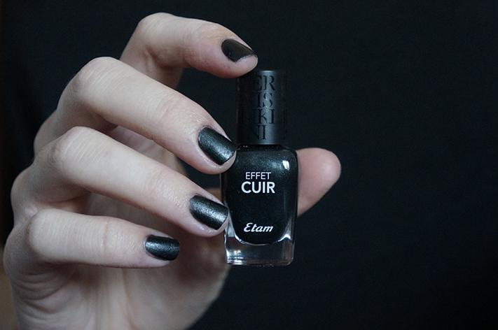 Push up Your Beauty Etam test avis swatch make up - vernis effet cuir noir