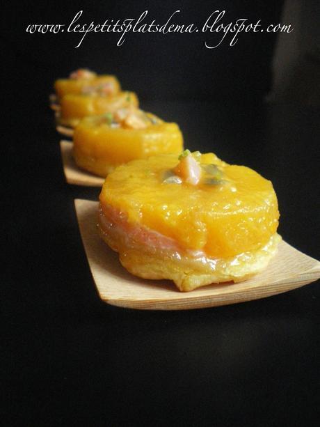 Tatin de mangue au saumon