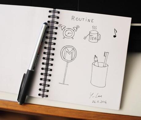 ~ Draw On Monday «Routine» ~