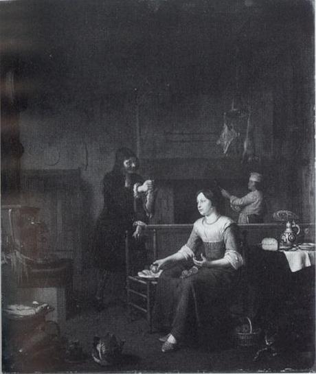 Pieter Slingelandt, Keukeninterieur. Duke of Sutherland Collection, Edinburgh, National Gallery of Scotland