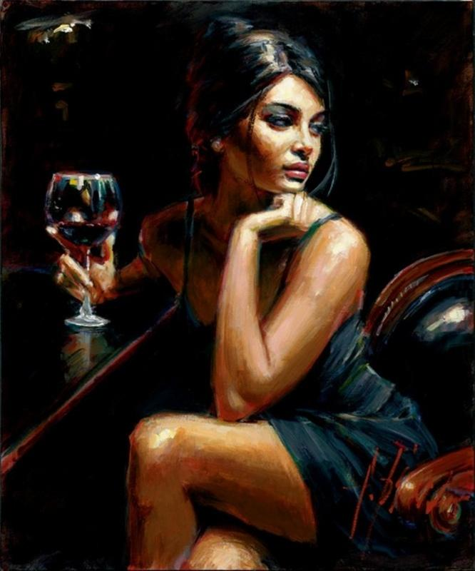 Saba with a glass of red wine Fabien perez