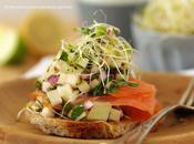 Salade fraîche saumon fumé