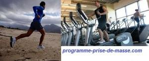 Le cardio- training et le footing en prise de masse