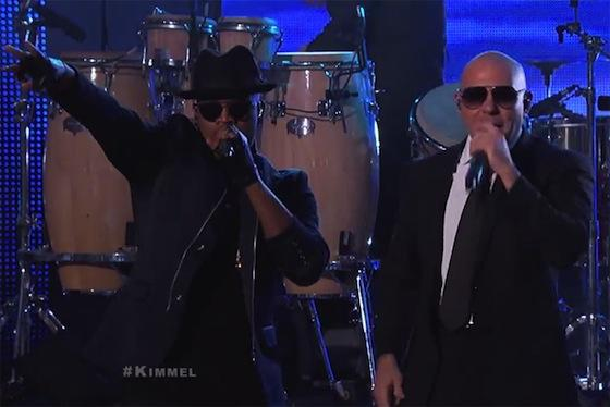 PITBULL AND NE-YO LIVE ON KIMMEL: « TIME OF OUR LIVES »