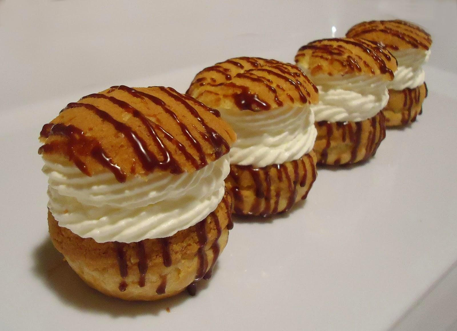 Choux Chantilly et marmelade d'orange