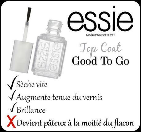 top coat, essie, good to go