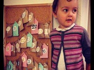 Mon calendrier de l'Avent : des petites maisons en papier