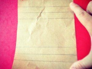Modèle que j'ai reproduit sur les papiers trouvés chez Hema