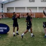 Quand les joueurs de Tottenham s'essaient au basket