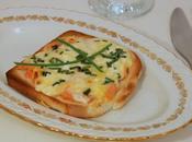 Toast gratiné saumon fumé, crème ciboulette