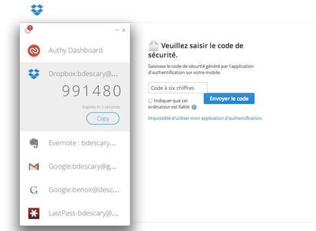 Authy validation en deux étapes securite google chrome iPhone 2014 : mon top 10 des applications gratuites