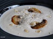 Veloute champignons paris noisettes