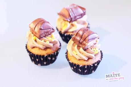 cupcake Kinder bueno nutella buttercream maite and the gang