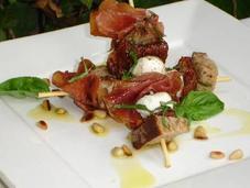 Brochettes gourmandes italiennes basilic