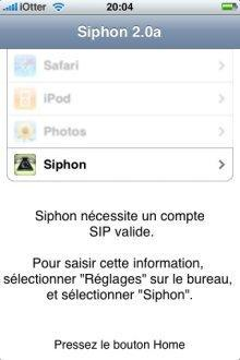 siphon voip sur iphone