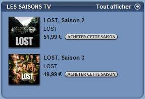 lost sur itunes store