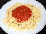 Spaghettis sauce merguez tomates